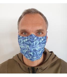Behelfs-Mund-Nasen-Maske bedruckt waschbar